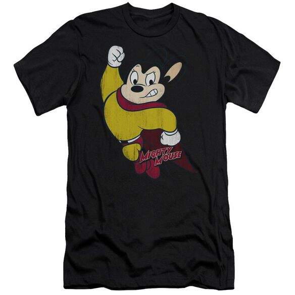 Mighty Mouse Classic Hero Short Sleeve Adult T-Shirt