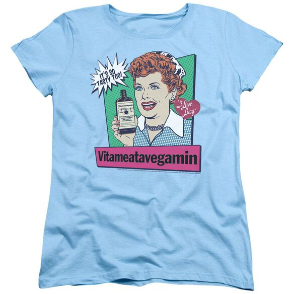 I Love Lucy Vita Comic Short Sleeve Womens Tee Light T-Shirt