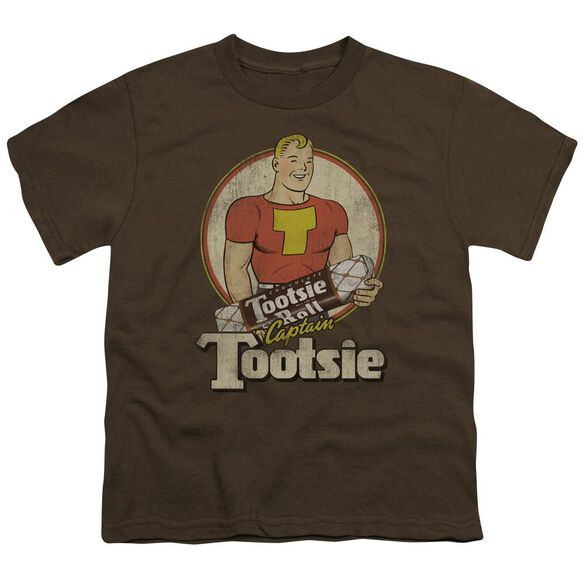 Tootsie Roll Captain Tootsie Short Sleeve Youth T-Shirt