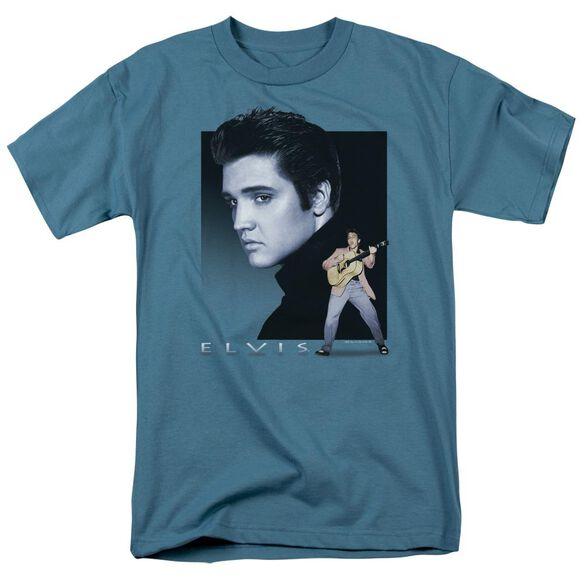 Elvis Blue Rocker Short Sleeve Adult Slate T-Shirt