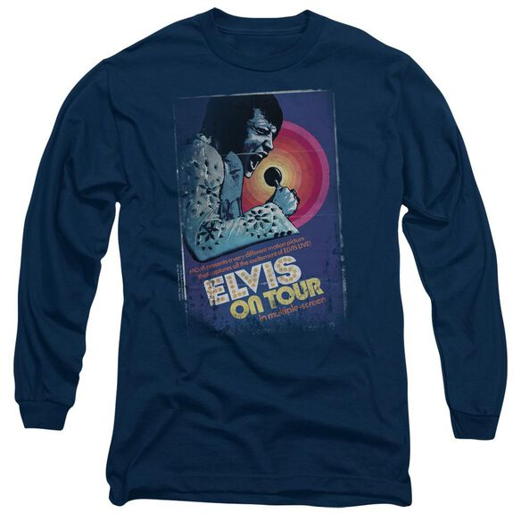 Elvis On Tour Poster Long Sleeve Adult T-Shirt
