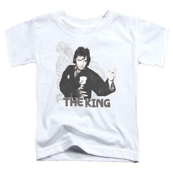 Elvis Fighting King Short Sleeve Toddler Tee White Lg T-Shirt