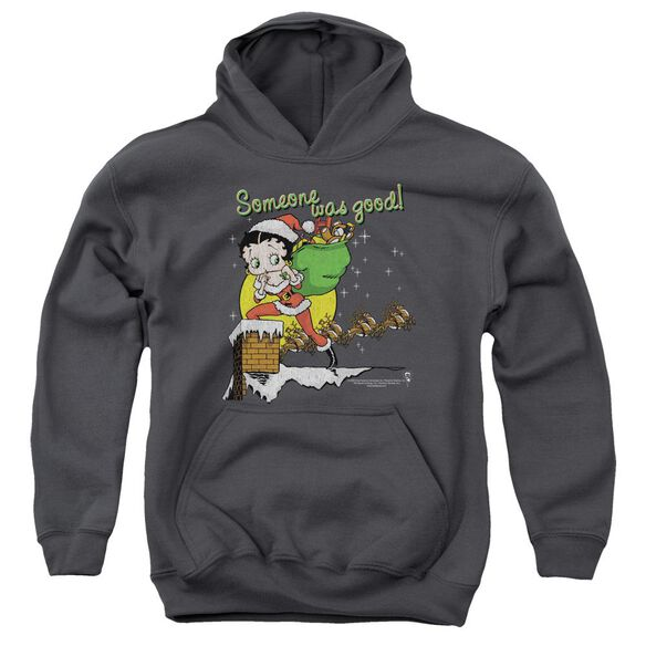Betty Boop Chimney Youth Pull Over Hoodie