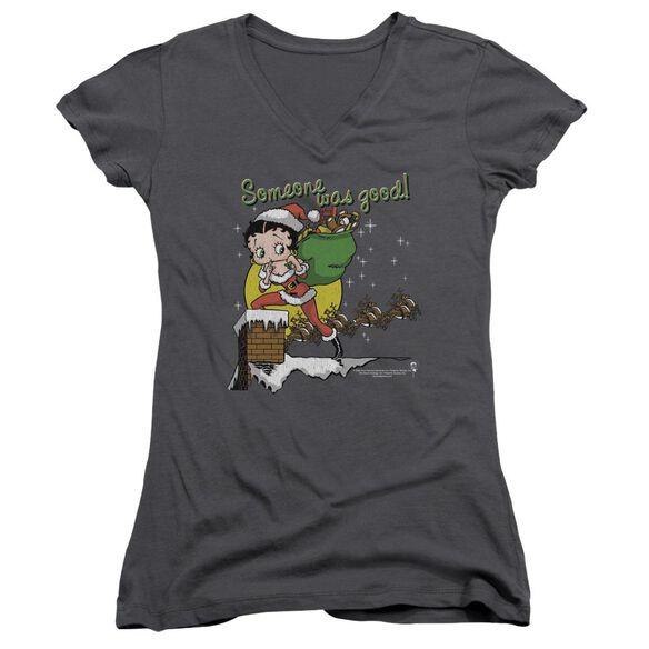 Betty Boop Chimney Junior V Neck T-Shirt