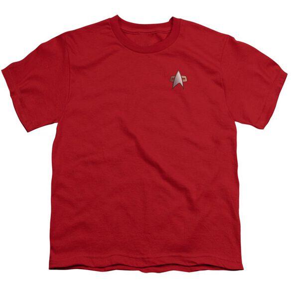 Star Trek Ds9 Command Emblem Short Sleeve Youth T-Shirt