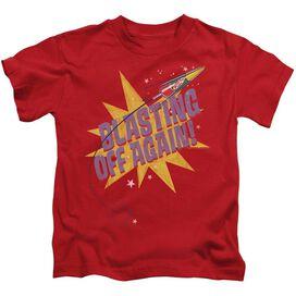 Astro Pop Blast Off Short Sleeve Juvenile Red T-Shirt