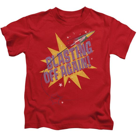 Astro Pop Blast Off Short Sleeve Juvenile Red T-Shirt