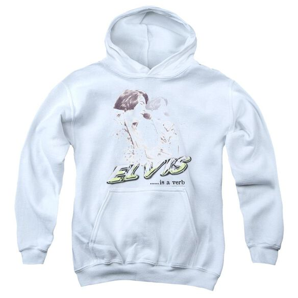 Elvis Presley Elvis Is A Verb Youth Pull Over Hoodie