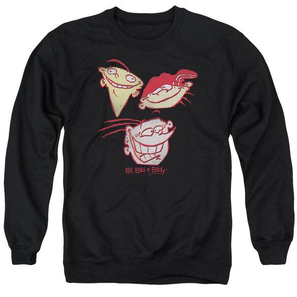 Ed Edd Eddy Three Heads Adult Crewneck Sweatshirt