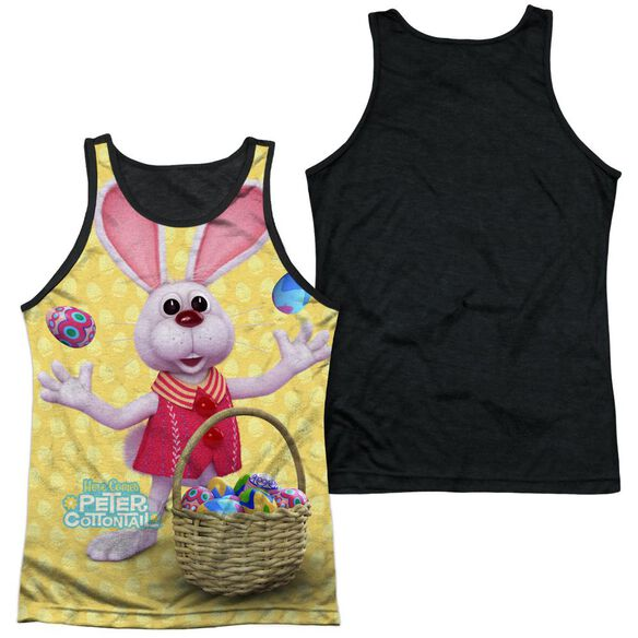 Here Comes Peter Cottontail Basket Of Eggs-adult Poly Tank Top