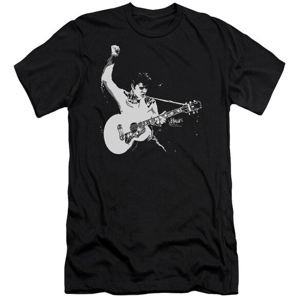 Elvis And White Guitarman Short Sleeve Adult T-Shirt