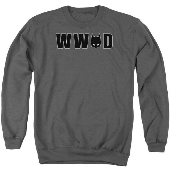 Batman Wwbd Mask Adult Crewneck Sweatshirt