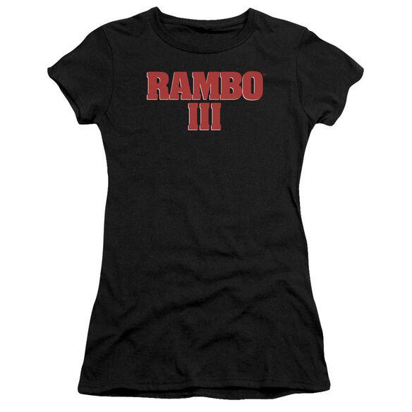 Rambo Iii Logo Premium Bella Junior Sheer Jersey