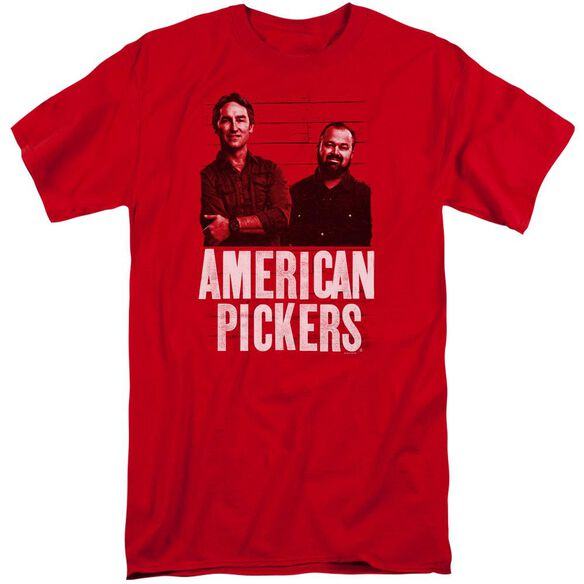American Pickers Picker Wood Pattern Short Sleeve Adult Tall T-Shirt