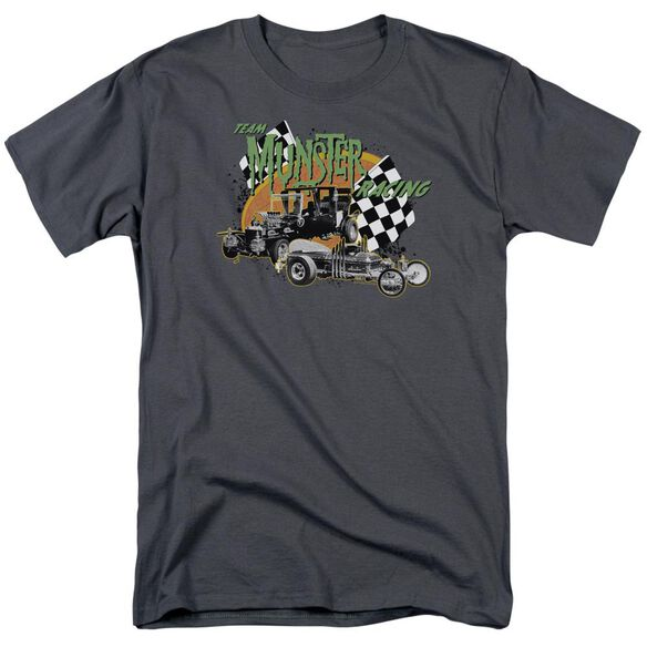 The Munsters Munster Racing Short Sleeve Adult Charcoal T-Shirt