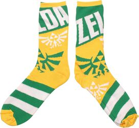 Zelda Link's Face with Crest Reversible Crew Socks