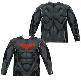 Batman Red Hood Style 2 (Front Back Print) Long Sleeve Adult Poly Crew T-Shirt