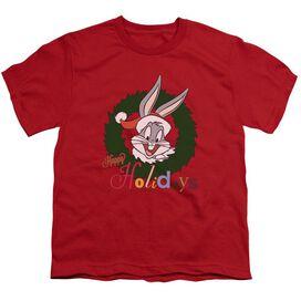 Looney Tunes Holiday Bunny Short Sleeve Youth T-Shirt