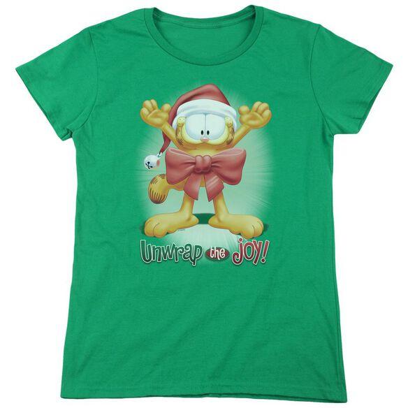 GARFIELD UNWRAP THE JOY!-S/S WOMENS T-Shirt