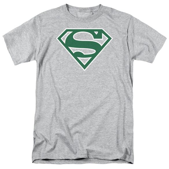 Superman Green & White Shield Short Sleeve Adult Athletic T-Shirt