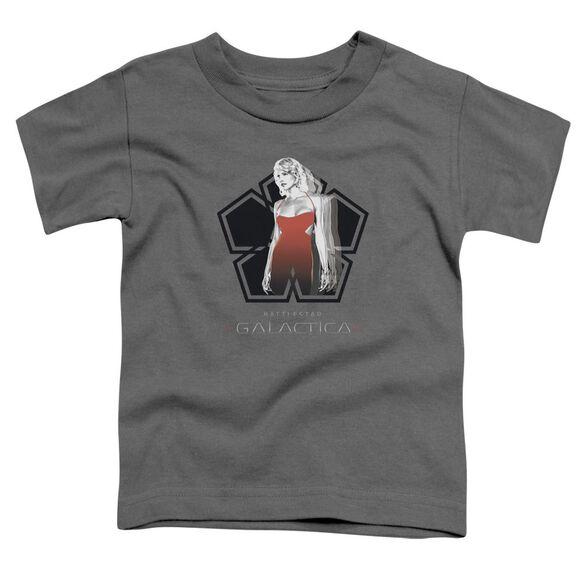 Bsg Cylon Tech Short Sleeve Toddler Tee Charcoal Sm T-Shirt