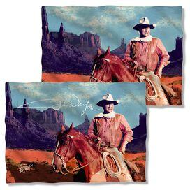 John Wayne Monument Man (Front Back Print) Pillow Case