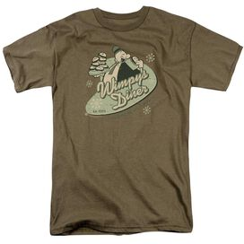 Popeye Wimpy's Diner Short Sleeve Adult Safari Green T-Shirt