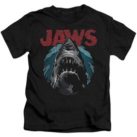 Jaws Water Circle Short Sleeve Juvenile Black T-Shirt
