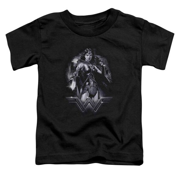 Batman Vs Superman Rainy Night Short Sleeve Toddler Tee Black T-Shirt