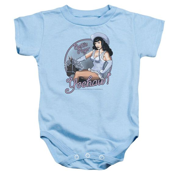 Bettie Page Cowgirl Infant Snapsuit Light Blue Md