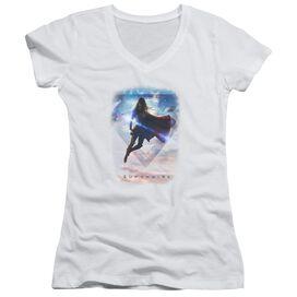 Supergirl Endless Sky Junior V Neck T-Shirt