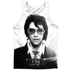 Elvis Mugshot Adult 100% Poly Tank Top