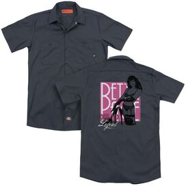 Bettie Page Pin Up Legend (Back Print) Adult Work Shirt