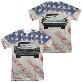 Buick 1959 Electra Flag (Front Back Print) Short Sleeve Adult Poly Crew T-Shirt