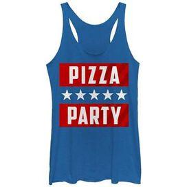 Political Pizza Party Tank Top Juniors T-Shirt