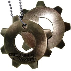 Gears of War Cog Tags Necklace