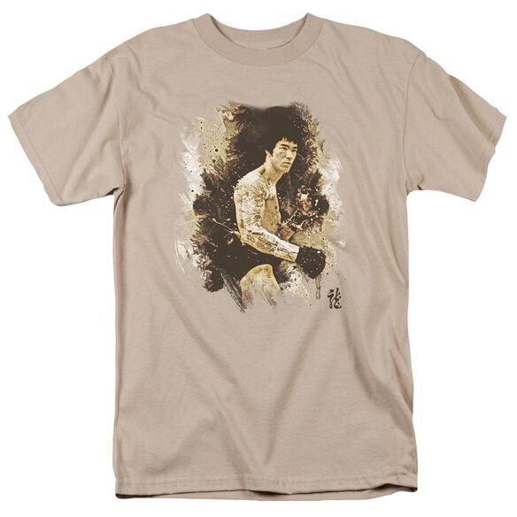 Bruce Lee Intensity Short Sleeve Adult Sand T-Shirt