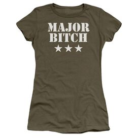 Major Bitch Short Sleeve Junior Sheer Military T-Shirt