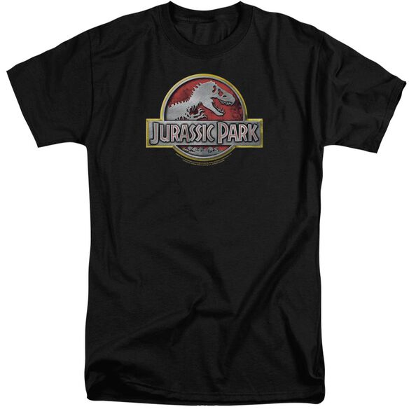 Jurassic Park Logo Short Sleeve Adult Tall T-Shirt