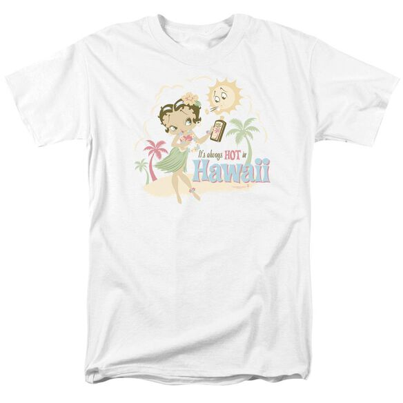 Betty Boop Hot In Hawaii Short Sleeve Adult T-Shirt