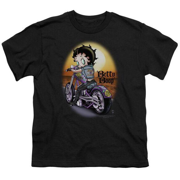 Betty Boop Wild Biker Short Sleeve Youth T-Shirt