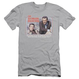 SIX MILLION DOLLAR MAN THE FIRST - S/S ADULT 30/1 - SILVER T-Shirt