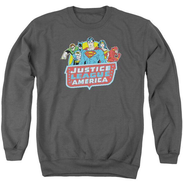 Dc 8 Bit League Adult Crewneck Sweatshirt