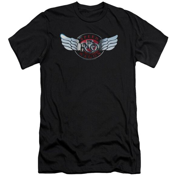 Reo Speedwagon Rendered Logo Premuim Canvas Adult Slim Fit