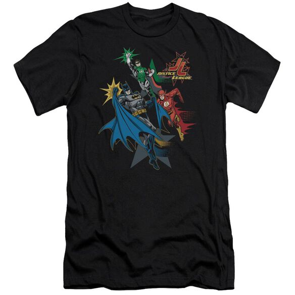 Jla Action Stars Short Sleeve Adult T-Shirt