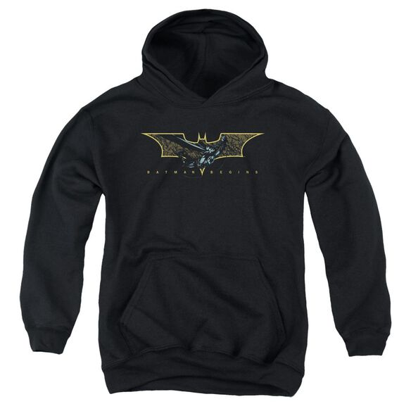 Batman Begins Coming Through Youth Pull Over Hoodie