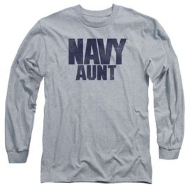 Navy Aunt Long Sleeve Adult Athletic T-Shirt