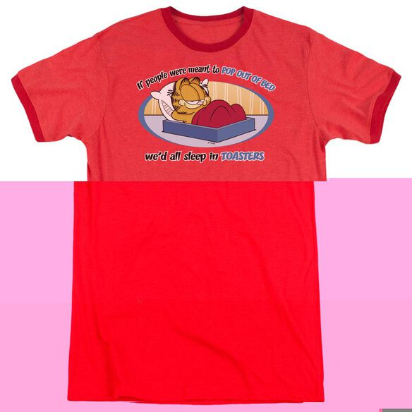 Garfield Pop Out Of Bed - Adult Heather Ringer
