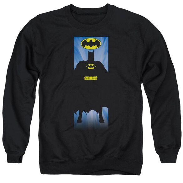 Batman Batman Block - Adult Crewneck Sweatshirt - Black