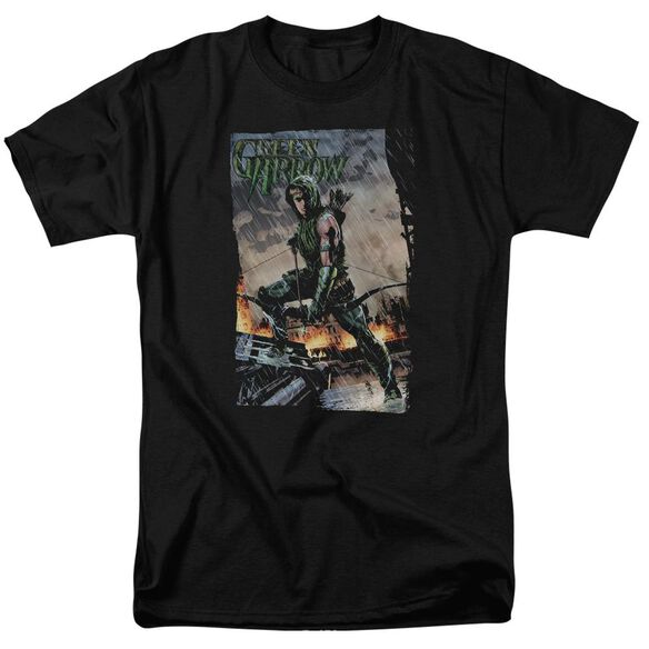 Jla Fire And Rain Short Sleeve Adult T-Shirt